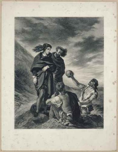 Eugène Leroux, Hamlet contemplant crâne Yorick.jpg